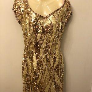 Alvee Design Gold sequined Dress